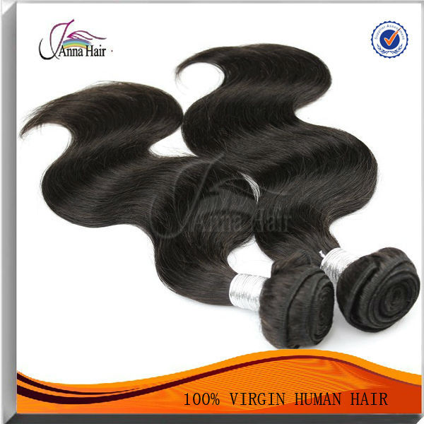 Real Human Hair Extensions Body Wave Hair Natural Black