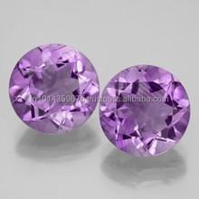 Wholesale Prices Round Cut Amethyst Corundum Gemstone Manufacture & Supply