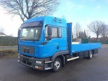 MAN 12.240 Flat Bed Truck - Left Hand Drive - Stock no: 11492