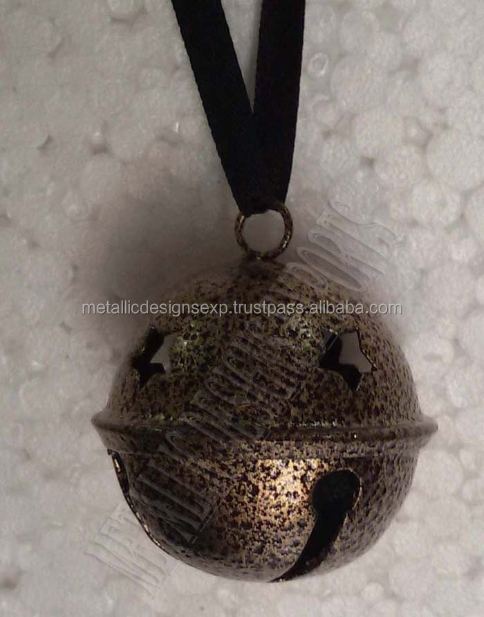 Christmas metal bell hanging ornaments for decoration