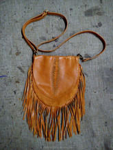 Leather Bag with Native American style