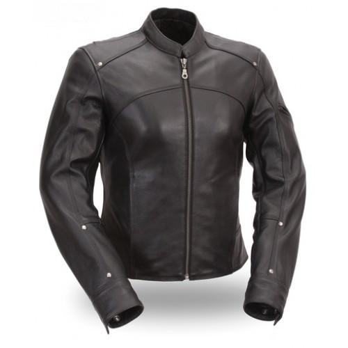 เสื้อหนังรถจักรยานยนต์/ผู้หญิงขี่จักรยานแจ็คเก็ตหนัง/ผู้หญิงหนังแจ็คเก็ตมอเตอร์ไซด์,
