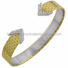 22K Gold Jewelry Wholesale Elegant Cuff Bracelet Arrow Bangle