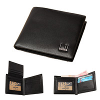 2015 Men Short Wallet Bifold Clutch Purse PU Leather Credit Card Holder Business Casual Cowhide Pocket Wallets High Quality