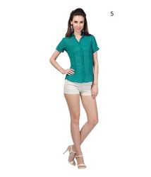 Short Sleeve Ladies Shirts And Blouses | Ladies Elegant Shirts Online Shopping