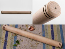 Wooden rolling pin for dough