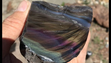 Large Pieces / Quantities of Davis Creek Rainbow Obsidian