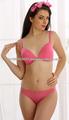 sexy et bikini à armatures rembourré plonger bra panty style en rose