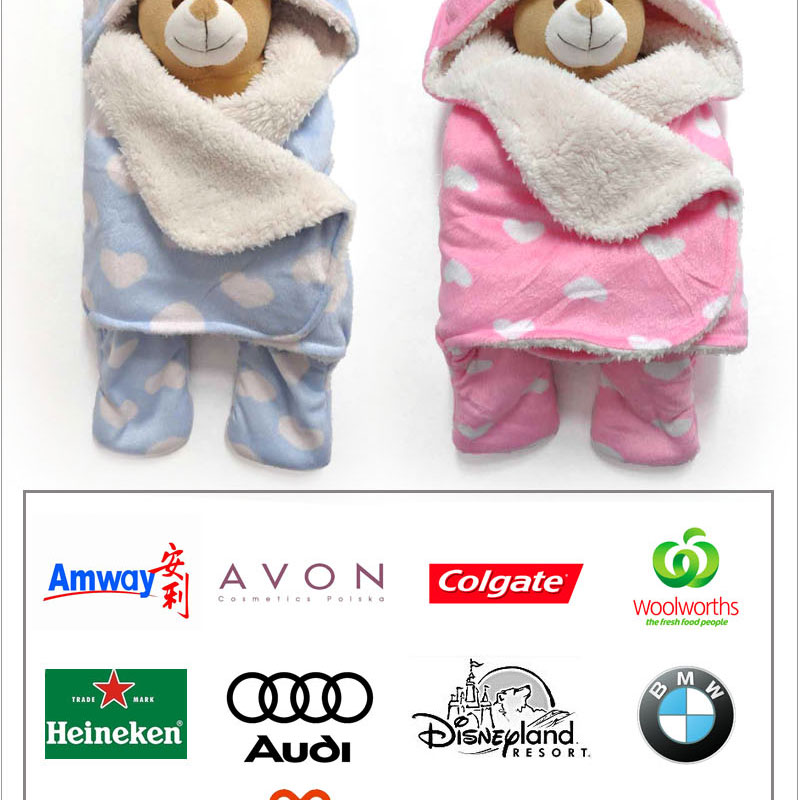 Animal Pillow Blanket Inside : baby blanket inside plush lamb with stuffed animal head