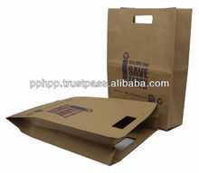 """Paper Bag with Hole Handle 11""""x4""""x16.5"""" (SAVE THE EARTH)"""