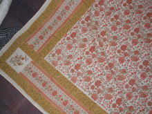 king size hand made hand block printed cotton material bed spread