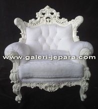 French Single Sofa Furniture - Indoor Furniture - White Arm Chair Sofa Sets