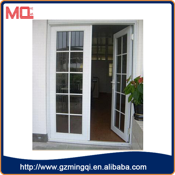 Aluminum profile double swing french doors grill design for Single swing french doors