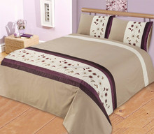 2015 new designe luxury wedding polyester / cotton bedding set /bed sheet/duvet cover/pillow