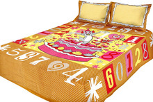 2015 the most popular style 100% cotton kids bedsheet high quality pink girl kids size Printed bedsheet