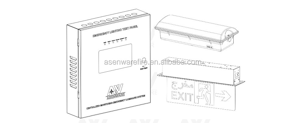 ac in  out 220v emergency lighting with wiring diagram