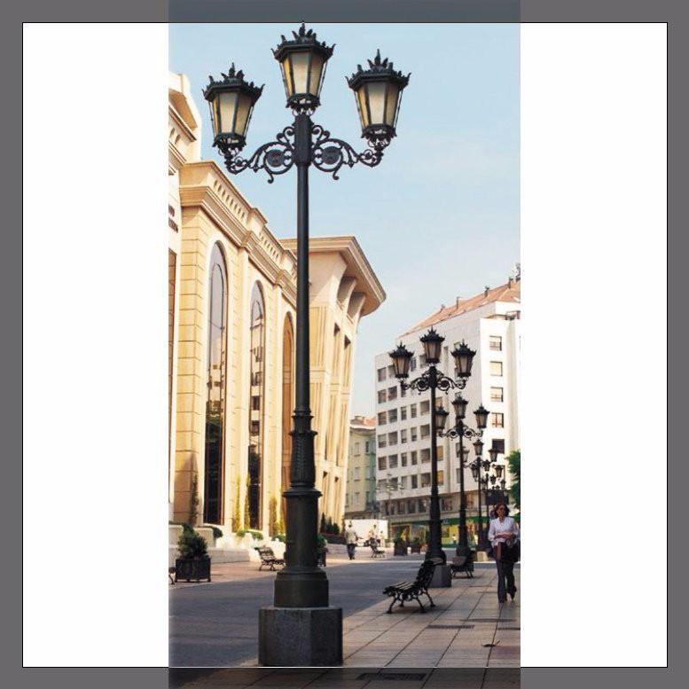Fonte de fer en fonte d 39 aluminium ext rieur r sidentiel for Lampadaire exterieur rue
