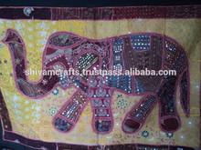 elefante de patchwork tapiz tapices de pared