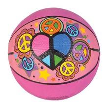 "5"" PEACE SIGN MICRO BASKETBALL"