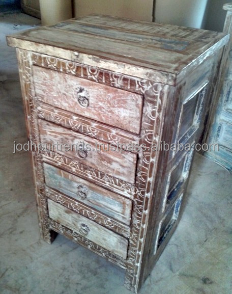 Reclaimed Wood Furniture 4 Drawers Chest Buy Recycled