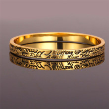 2015 New Platinum/18K Real Gold Plated Unisex Women/Men Jewelry Mystical Letters Bangle