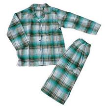 Hombres plaid pijamas de algodón pijamas venta al por mayor