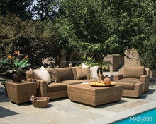 Luxury Design Garden Rattan- Popular EU design patio wicker sofa outdoor furniture