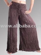 Arruga <span class=keywords><strong>pantalones</strong></span> de alta calidad orgánica en, el algodón regular o resistente a uv de color