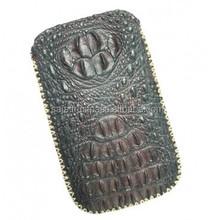 Crocodile leather bag for iphone 4