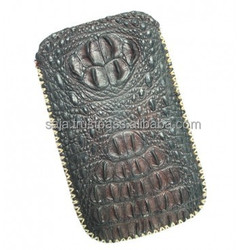 Crocodile leather bag for iphone 4