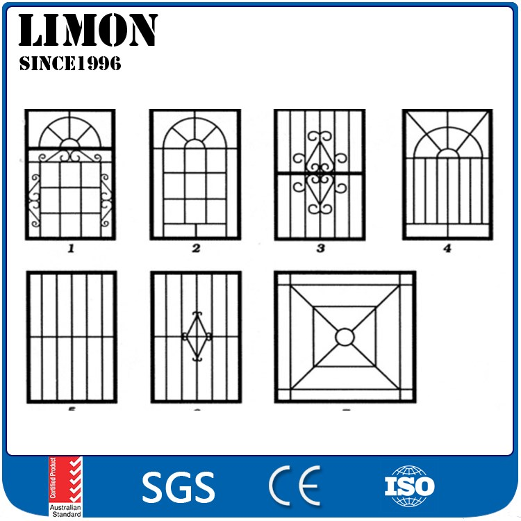 2016 Latest Simple Iron Window Grills Design For House Windows - Buy ...