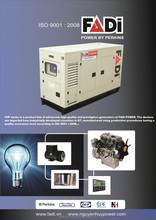 Generator set 450 KVA with Perkins engine, 3 phases, FADI brand, high quality and good price