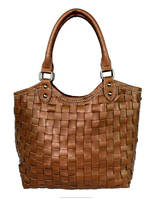 handbags made in india wholesale real genuine cow skin camel colored leather tote bag made in india