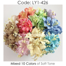 Pastel Handmade Mulberry Paper Flower, Wedding Party, Scrap-booking Crafts, Wholesale LY1/426