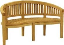 Teak Outdoor Peanut Standard Bench