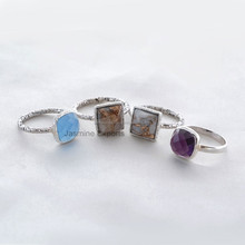 925 Sterling Silver Gemstone Rings, Wholesale Supplier and Manufacturer of 925 Sterling Silver Gemstone Rings Bezel Jewelry