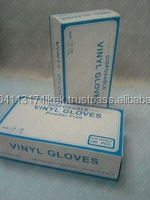 Vinyl Clear Medical Glove Natural color lightly powdered