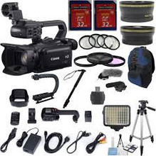 For New Canon XF100 Professional Camcorder with 10x HD Video lens + 64GB Advanced Accessory Kit