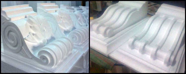Polystyrene Decorative Corbels With Polymer Cement Coating