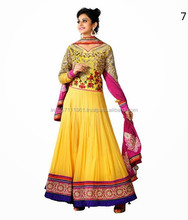 Party Wear Indian Designer Gherdar Long Full Length Anarkali Dresses