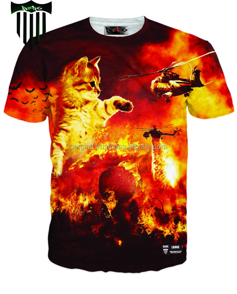 Digital printed t shirt sublimation t shirt get your own for Digital printed t shirts