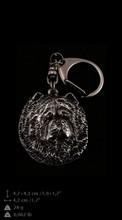 Chow chow, argento portachiavi coperto, art-dog