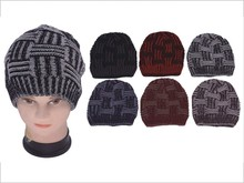 Wholesale Men Knitted Winter Hats with Basketweaves