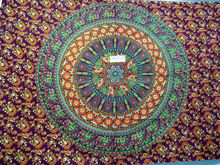 2015 Printed Mandala Bed Spread Round Tapestries Hippie Indian Wall Hanging, Indian Bohemian Bedspread Wholesale