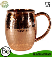 Stainless Steel 100% Pure Copper Moscow Mules Barrel Hammered Mug