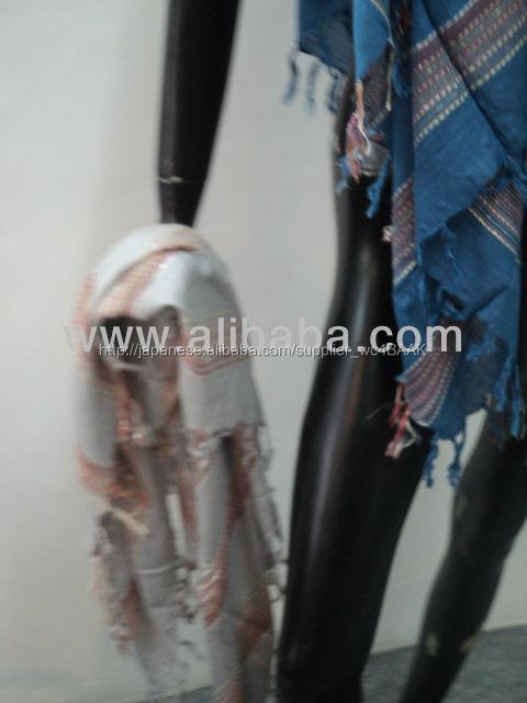 正方形のスカーフユニセックスのための耳のマフ目的のスカーフ・ストールbandhana手織り機インド