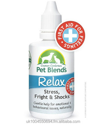 Pet Remedy for Stress, Anxiety, Firework Fear and Trauma. To Naturally Calm Dogs Cats & Horses. Original Pet Blends. BOX OF 25