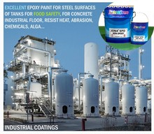 Excellent Epoxy Paint for Steel surfaces of Food Safety & concrete industrial floor, heat resistant, JIS Standard JONA EPO