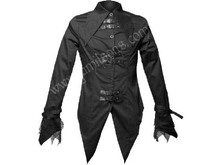 Special Ladies Short Coat Black Cotton with PVC Fashion Winter collection
