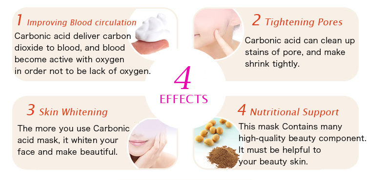 Japanese high quality co2 gel face mask for women